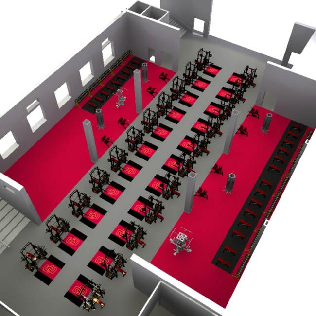 Gym Plans Floor Plan: 3D Gym, Weight Room, Fitness, Gym Layout, Floorplan Service